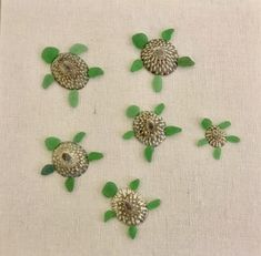 Sea glass and shell turtles picture #seaglasscrafts
