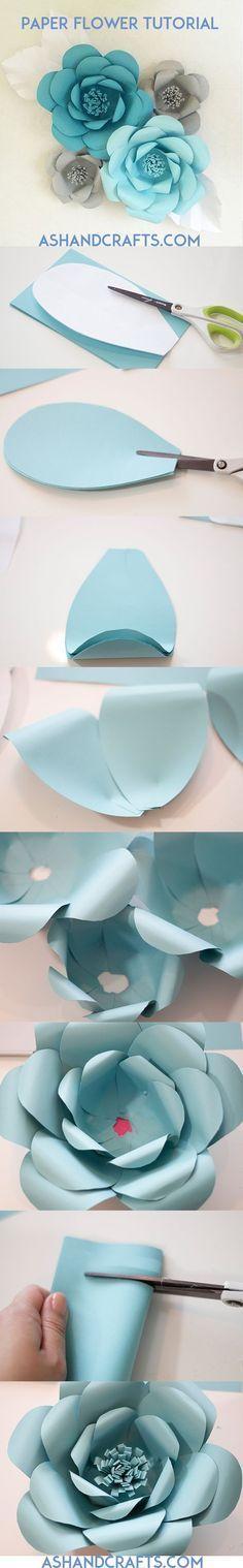 Super Anleitung Papier Blumen basteln Step Bilder & Tutorial *** Paper…