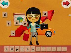 Captura de pantalla del iPad 2. 1,79€ç  Aplicación para iPad tiene como finalidad que los niños se inicien en la lectoescritura.