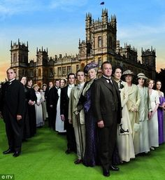 "Downton Abbey.  Must see TV.  The Countess Dowager (Maggie Smith)'s one liners are fantastic.  ""What's a weekend!?"""