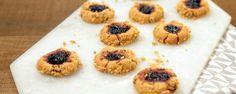 Peanut - jam thumbprint cookies