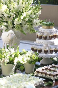 Little Lamb themed baby shower via Kara's Party Ideas KarasPartyIdeas.com Cakes, cupcakes, recipes, printables, and more! #genderneutralbabyshower #karaspartyideas (7)