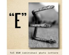 Letter K Alphabet Photography BW 4x6 Photo by FrittsCreative