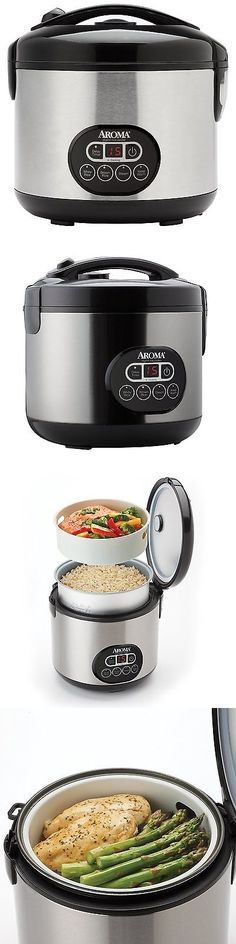 appliances  aroma 12 cup black and stainless cool touch digital rice cooker and food steamer small kitchen appliances  aroma professional 12cup egg shape      rh   pinterest com