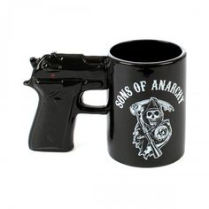 Sons Of Anarchy Gun Ceramic Coffee Mug -- You can get additional details at the image link. #CoffeeMug