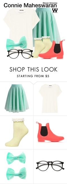 """""""Steven Universe"""" by wearwhatyouwatch ❤ liked on Polyvore featuring Chicwish, Balmain, Dorothy Perkins, New Look, ZeroUV, television and wearwhatyouwatch"""