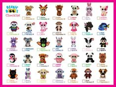 This item is unavailable Beanie Boos Names, Beanie Boos List, Beanie Boo Dogs, Ty Beanie, Beanie Boo Party, Cool Toys For Girls, Diy For Kids, Big Eyed Animals, Amigurumi