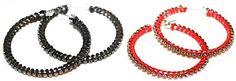 DIY Tutorial for blingy hoop earrings