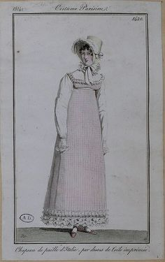 1814. A true jumper dress in a fashion plate!