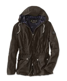 Just found this Barbour Womens Hooded Wax Cotton Jacket - Barbour%26%23174%3b Chock Wax Jacket -- Orvis on Orvis.com!