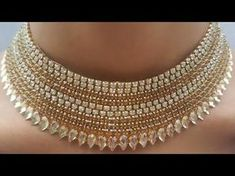 (DIY)HOW TO MAKE PARTY WEAR PAPER NECKLACE//PAPER JEWELLERY//THE STUNNING HANDMADE'S.. - YouTube