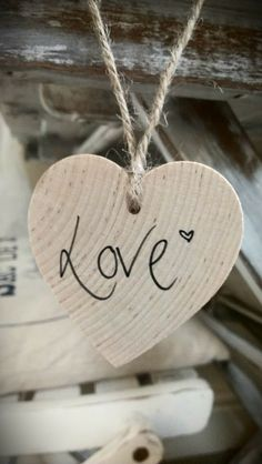 Items similar to Wooden 'Love' heart decoration. on Etsy I Love Heart, With All My Heart, Small Heart, Your Heart, Heart Pics, Heart Decorations, Wooden Hearts, Heart Art, Be My Valentine