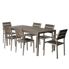 Pangea Home ROY 7 Piece Dining SET , Patio Furniture