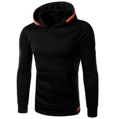 Color Spliced Zipper Embellished Front Pocket Slimming Hooded Long Sleeves Hoodie For Men Sweatshirts Online, Mens Sweatshirts, Wholesale Hoodies, Mens Fashion, Fashion Outfits, Style Fashion, Cheap Hoodies, Shirt Style, Long Sleeve