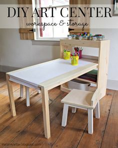 Ana White | Build a Kids Art Center | Free and Easy DIY Project and Furniture Plans - maybe make another Mommy size!