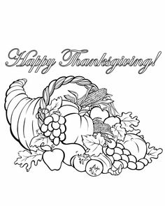 Free Printable Coloring Pages  Printable Cornucopia coloring page