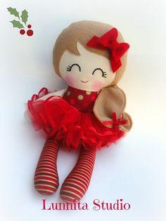 Holiday doll, Handmade cloth doll,Girl gift,Ragdoll,Cloth doll,Fabric doll...Eco-Friendly Doll... sweet ragdoll.