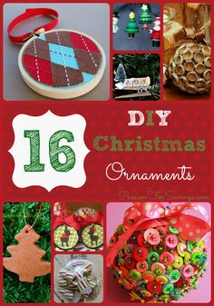 If you need some fun ideas of things you can make with your kids this year Check out this 16 DIY Christmas Ornaments. I think some of these would be perfect for kids!