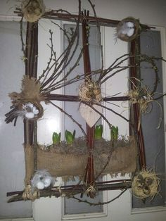 Voorjaar Twig Wreath, Crafts With Pictures, Deco Floral, Animal Decor, Fun Crafts For Kids, Vintage Crafts, Easter Wreaths, Summer Wreath, Holidays And Events