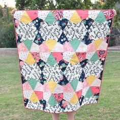 AGF Stitched - Fractal Quilt with Free Pattern
