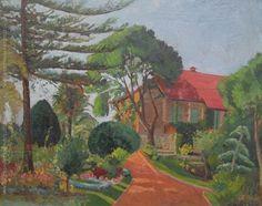"""Zoma Baitler """"Quinta"""" Óleo sobre fibra  56 x 70 cm. Circa 1952  Firmado abajo a la derecha  http://www.portondesanpedro.com/ver-producto.php?id=12322"""