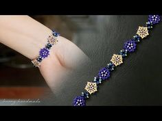 Informations About Blue beaded bracelet diy. How to make beaded bracelet. Beading tutorial Pin You c Making Bracelets With Beads, Seed Bead Bracelets, Bracelet Making, Gold Bracelets, Diy Bracelet, Jewelry Making, Bead Jewellery, Beaded Jewelry, Leather Jewelry