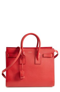 Hello, gorgeous. This lipstick red Saint Laurent tote is stunning!