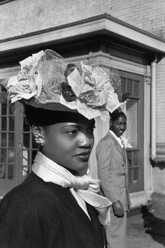 Hats in the photos by Henri Cartier-Bresson   Henri Cartier-Bresson, Harlem, 1947