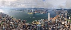 Birdseye view of Hong Kong, China - the City Where Dreams Come True - AirPano.com • 360° Aerial Panorama • 3D Virtual Tours Around the World