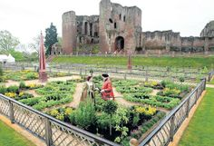 It was a setting for one of the most famous love stories in English history. The great scented garden that Robert Dudley, the Earl of Leicester, created at Kenilworth Castle, his home in Warwickshire, especially to woo Elizabeth I has been re-created by English Heritage and opened to the public || The Independent, 2009