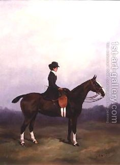 Lady Riding Side-saddle by Henry Frederick Lucas-Lucas LPS:  1st art gallery.com