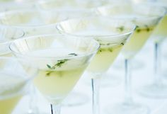 apple thyme martini