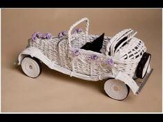 Ретро-автомобиль Мастер-класс Плетение из газет - YouTube