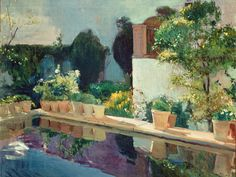 Joaquin Sorolla y Bastida - La alberca Alcázar de Sevilla (1910)