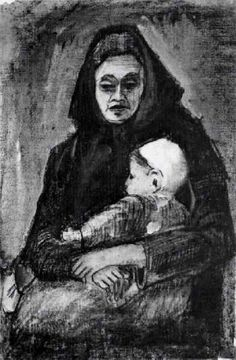 Woman with Baby on her Lap, Half-Length by @artistvangogh #realism