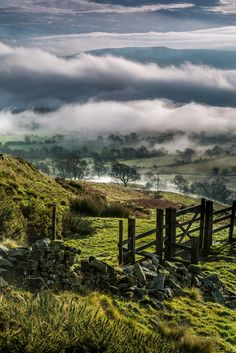 Hollins Cross gate near Mam Tor - Peak District, England by picture frame photography ""