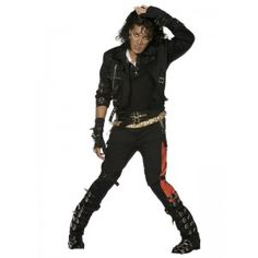 Michael Jackson Bad Adult Costume You know I'm Bad! I'm Bad! This Michael Jackson Bad Adult Costume includes a jammin' jacket featuring signature King Michael Jackson Outfits, Michael Jackson Bad Costume, Michael Jackson Kostüm, Michael Jackson Halloween, Michael Jackson Merchandise, Bad Michael, Costume Noir, 80s Costume, Costume Shop