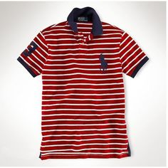 Ralph Lauren Black Big Pony Classic Leisure Red Stripe Polo is on promotion, don\u0026#39;t loss the chance.