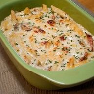 Dinner Idea: Baked Cheesy Chicken Penne
