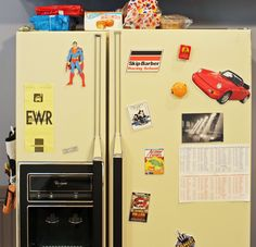 That Decorated Fridge Inspiration Boards, Color Inspiration, Seinfeld, 90s Things, Photo Galleries, Salons, Lounges