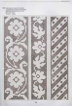 Since the main motif is the flower, here is where I begin hooking. I make my two most important decisions first: What color will my flower be, and What color for the background. Cross Stitch Borders, Cross Stitch Flowers, Cross Stitching, Cross Stitch Embroidery, Embroidery Patterns, Cross Stitch Patterns, Filet Crochet Charts, Crochet Motifs, Crochet Stitches