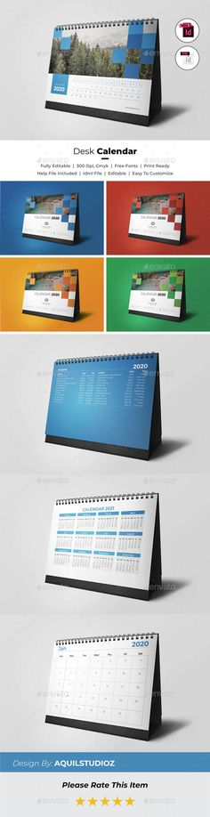 """Buy Desk Calendar 2020 by AquilStudioz on GraphicRiver. Creative Desk Calendar This is 12 Months + Cover Very easy to use and customize with Paragraph Styles for """"days. Buy Desk, Wonder Woman Logo, Calendar 2020, Desk Calendars, 2020 Design, Free Prints, Logo Templates, Ads, Creative"""