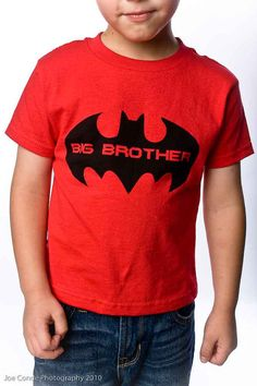 @Alicia Carter. For William! Super Hero Big Brother Shirt  2 colors  Toddler by REVOLUTION46R46, $16.00