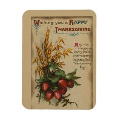 Vintage Thanksgiving Wishing Rich Blessings Poster | Zazzle.com