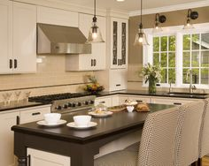 Traditional Kitchen Backsplash With Granite Countertops Design, Pictures, Remodel, Decor and Ideas - page 37