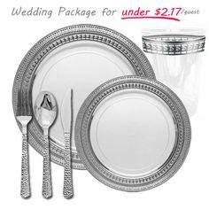 Elegant Disposable Dinnerware - Plastic Wedding Plates - Posh Party Supplies ™