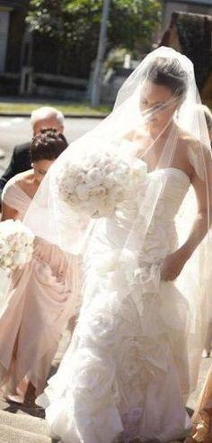 Drop veil circular veil with blusher cut, $49.00