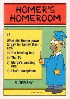 1990 Topps The Simpsons #82 Unga, Bunga, Yunga, Ho! Back