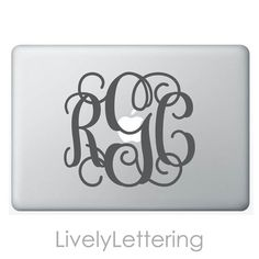 6x7 Monogram decal by LivelyLettering http://etsy.me/1ODuyjR  #EtsyGifts #StockingStuffer
