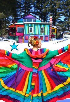 Rainbow, arcoiris Elf Coat by Katwise - Rainbow Magic, Love Rainbow, Taste The Rainbow, Over The Rainbow, Rainbow Colors, Rainbow Stuff, Rainbow House, Rainbow Family, Rainbow Candy